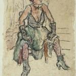 Thea als model van Toulouse-Lautrec