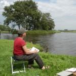 Joost van der Krogt aan het werk