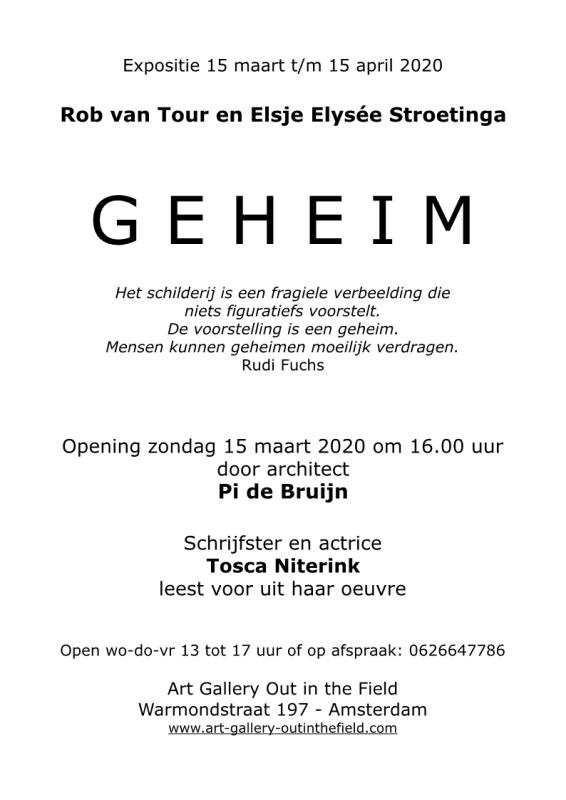 Aankondiging van de expositie