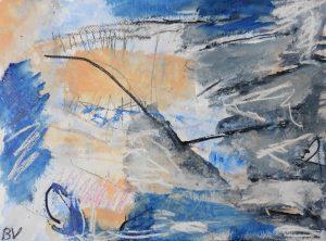 """Afbeelding van het kunstwerk """"Doorschenen wolkenranden"""""""