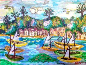 """Afbeelding van het kunstwerk """"Op het water"""""""