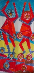 """Afbeelding van het kunstwerk """"Banket tossing 2"""""""