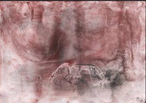 """Afbeelding van het kunstwerk """"corona licht en donker 01"""""""