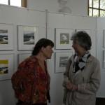 Irene Hertel en bezoeker