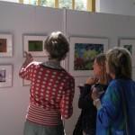 Tijdens de expositie