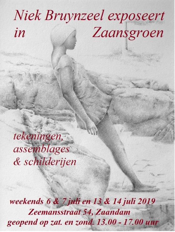 Aankondiging expo Zaansgroen, Niek Bruynzeel juli 2019