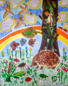 """Afbeelding van het kunstwerk """"Het bos"""""""