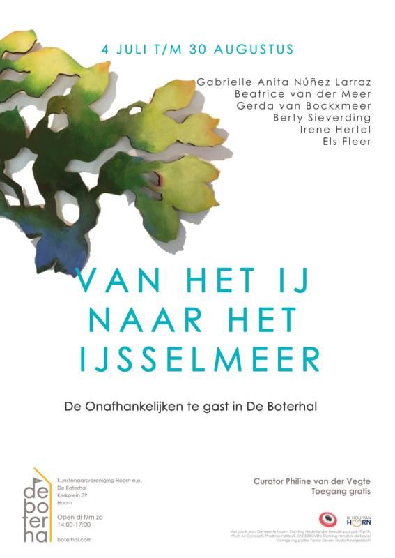 Afbeelding poster van IJ naar het IJsselmeer