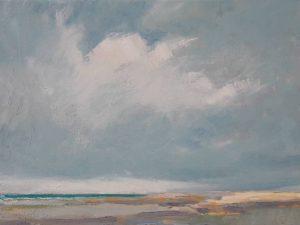 """Afbeelding van het kunstwerk """"stil kustlandschap"""""""