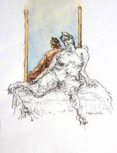 """Afbeelding van het kunstwerk """"Helene voor de spiegel"""""""