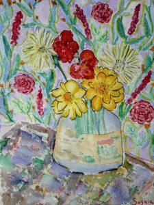 """Afbeelding van het kunstwerk """"Bloemetjes uit de tuin"""""""