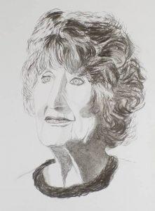 """Afbeelding van het kunstwerk """"Hedy d'Ancona,politica en feministe van het eerste uur"""""""