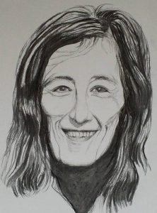 """Afbeelding van het kunstwerk """"Joke Smit, politica en oprichtster van Man-Vrouw-Maatschappij"""""""