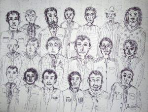 """Afbeelding van het kunstwerk """"Verschillende gezichten"""""""