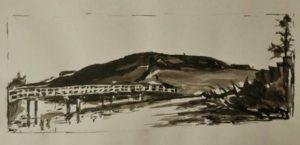"""Afbeelding van het kunstwerk """"De Belt, serie Urban sketches"""""""