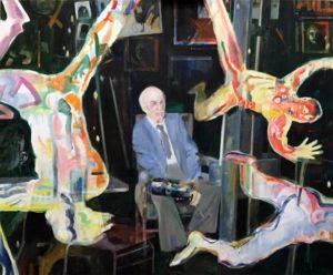 """Afbeelding van het kunstwerk """"Kees Verwey: zie de mannen vallen"""""""