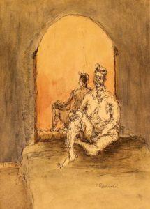 """Afbeelding van het kunstwerk """"Maya voor de spiegel"""""""