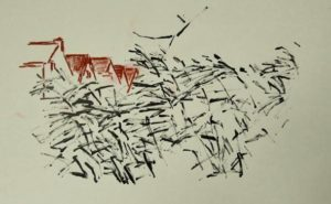 "Afbeelding van het kunstwerk ""Westerwindpad, serie Urban sketches"""