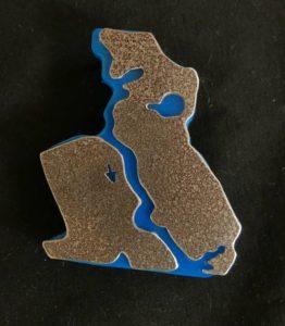 Afbeelding luchtfoto zaandam met wandelpad