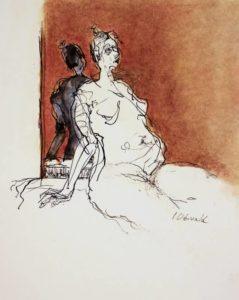 """Afbeelding van het kunstwerk """"Helene in de spiegel"""""""