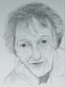 """Afbeelding van het kunstwerk """"Marga Minco geb. 31-3-1920 schrijfster"""""""