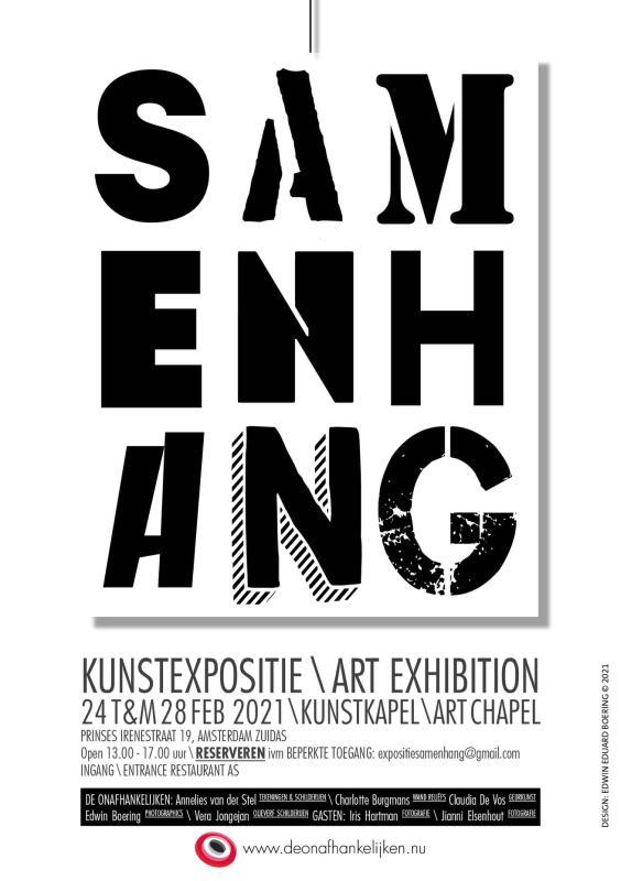 """Affiche expositie """"Samenhang"""""""