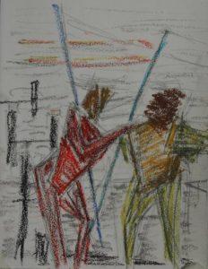 """Afbeelding van het kunstwerk """"Vissers van Maassluis"""""""