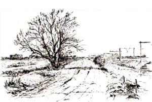 """Afbeelding van het kunstwerk """"Zicht op Peldersveld """""""