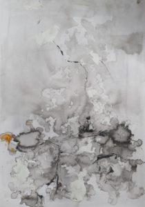 """Afbeelding van het kunstwerk """"Inner landscape 1 in wording"""""""