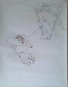 """Afbeelding van het kunstwerk """"Lotis met pappa Arnt"""""""
