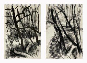 """Afbeelding van het kunstwerk """"Studies uit het bos"""""""