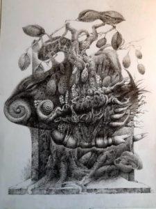 "Afbeelding van het kunstwerk ""Dwaalgast 8, in wording"""