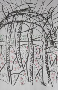 """Afbeelding van het kunstwerk """"Lentebos"""""""