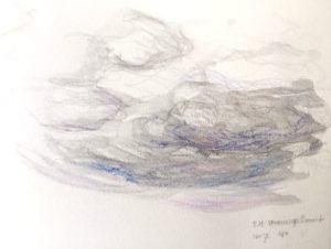 """Afbeelding van het kunstwerk """"Sneeuw op komst 1"""""""