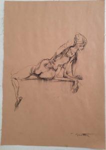 """Afbeelding van het kunstwerk """"Susan, het Duitse Schiele model 1"""""""