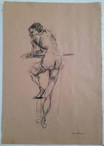 """Afbeelding van het kunstwerk """"Susan, het Duitse Schiele model 2"""""""