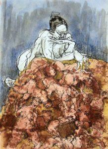 "Afbeelding van het kunstwerk ""Suzanna, tekening in serie Fantasie-model"""