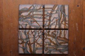 """Afbeelding van het kunstwerk """"Vier eikenbomen in Meyendel"""""""