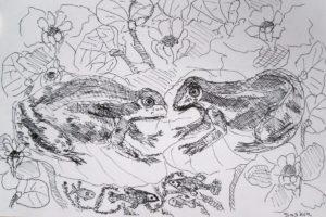 """Afbeelding van het kunstwerk """"Kikkers"""""""