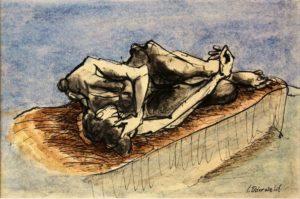 """Afbeelding van het kunstwerk """"Sien liggend"""""""