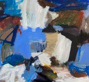 """Afbeelding van het kunstwerk """"Het wit wordt blauw en verdwijnt in de rotsen"""""""
