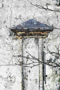 """Afbeelding van het kunstwerk """"Oude muur van een boerderij langs de Vecht"""""""