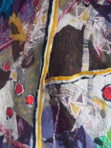 """Afbeelding van het kunstwerk """"Tussen bos en vaart , wandkleed in opdracht voor een woonhuis in Haarlem"""""""