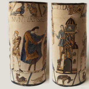"""Afbeelding van het kunstwerk """"Tapis de Bayeux aan de rol"""""""