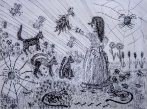 """Afbeelding van het kunstwerk """"Vriendelijke heks"""""""