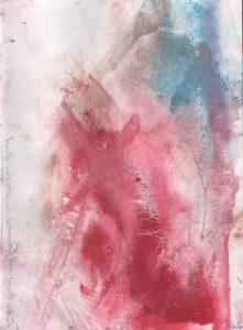"""Afbeelding van het kunstwerk """"Pijnabstract: heeft schoonheid schoonheid haar gezicht verbrand"""""""