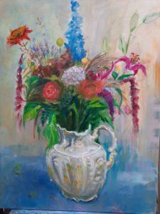 "Afbeelding van het kunstwerk ""Boeket in witte vaas"""