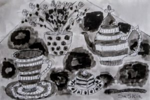 """Afbeelding van het kunstwerk """"Kopje thee"""""""
