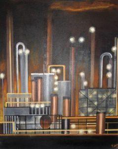 """Afbeelding van het kunstwerk """"Nachtfabriek"""""""