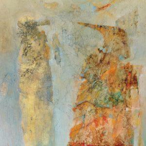 """Afbeelding van het kunstwerk """"Ontmoeting tussen 2 figuren ( in wording)"""""""